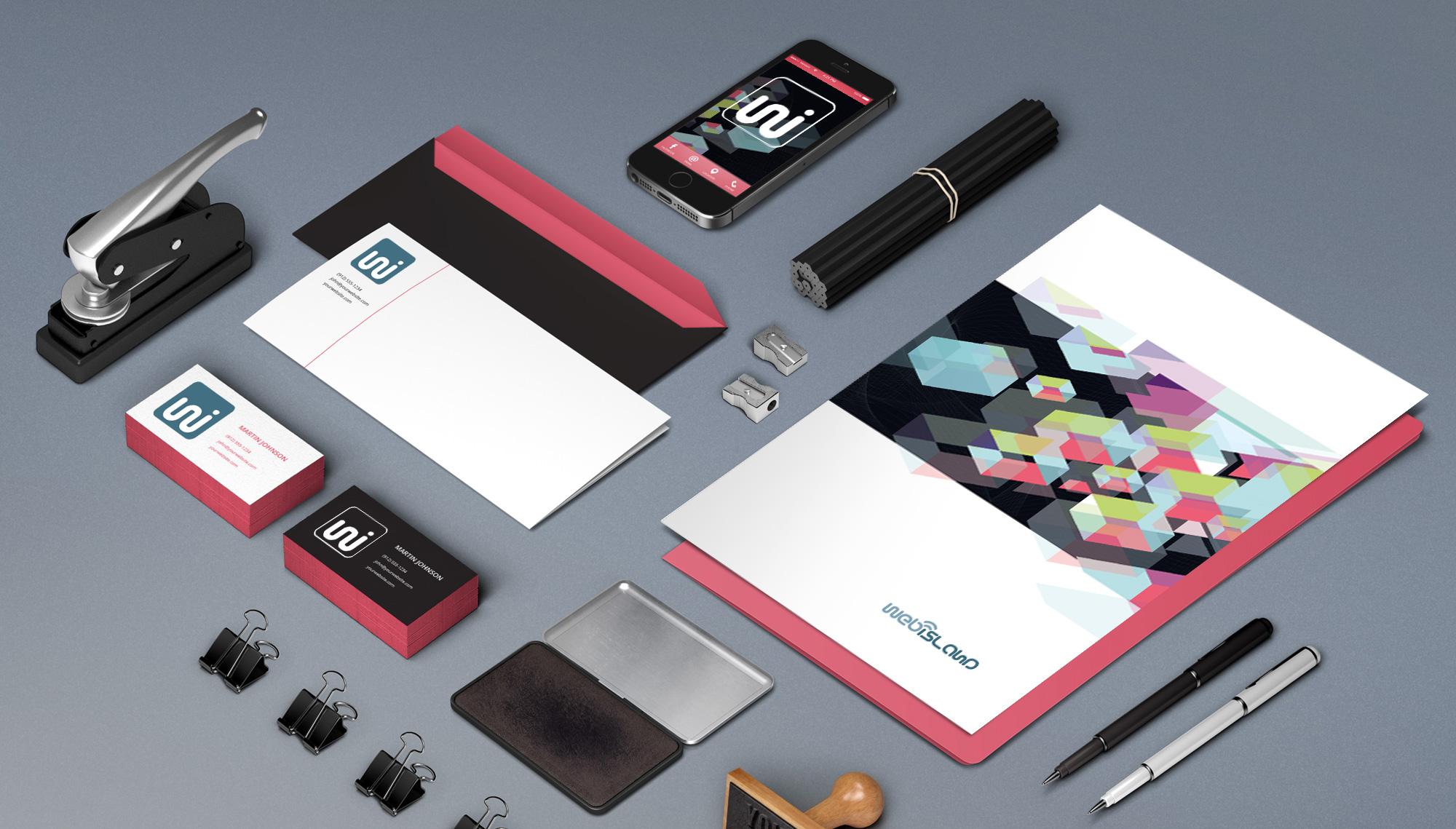 Webisland - Internet Agency // Concept logo e sviluppo immagine coordinata